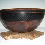Claro black walnut salad bowl